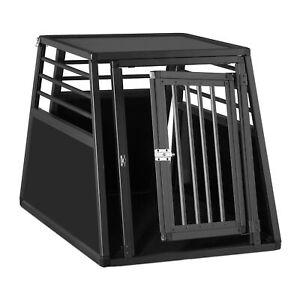 Relaxdays Hundebox Auto, Hundetransportbox für Kofferraum, abgeschrägt, Alu H...