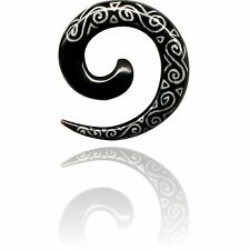 PAIR HORN 00g 10MM SPIRALS PLUGS PLUG body jewelry