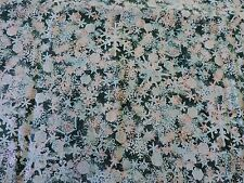 """NATURE SCAPES"" BY JENNIFER SAMPOU.  2 YDS BY 44 IN. GREENS & SILVER METALLIC..."