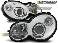 FARI ANTERIORI HEADLIGHTS MERCEDES CL203 C-KLASA 00-04 CHROME *2694
