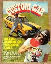 CUSTOM CAR Magazine Sept 1972 - AVENGER TIGER v SIMCA RALLYE, FUNNY CARS, SCAMP