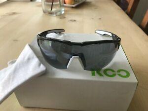 KOO (Kask) Open Cube Sunglasses - Black/White Frame + Smoke Mirror Lenses - VGC