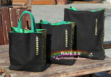 Highly Recommend Starbucks NEW CANVAS Lunch Bag BLACK SMALLTOTE BAG HANDBAG
