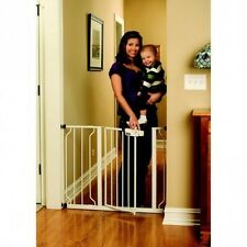 White Regalo Easy Step Walk Thru Gate, Baby Toddler Pet Child Safety Doorway