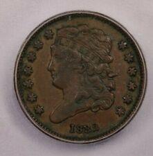 1832-P 1832 Classic Head Half Cent 1/2c ICG EF45