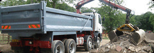 GRAB LORRY HIRE - STAFFORDSHIRE - Soil / Hardcore / Green Waste Removed