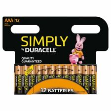 Lot de 12 Duracell Simply AAA Piles Alcalines LR03 MN2400 1.5V longue durée