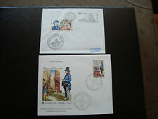 FRANCE - 2 enveloppes 1er jour 1970 (journee du timbre/denfert rochereau) (cy87)