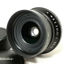 *EXC+5* Voigtlander SNAPSHOT SKOPAR 25mm F4 MC Leica L39 M39 Mount w/ Hood JAPAN