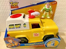 FISHER PRICE IMAGINEXT TOY STORY 4 BUZZ LIGHTYEAR AND PIZZA PLANET TRUCK HTF