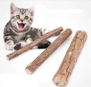 1/10/15/20/50 MATABI KATZENMINZE KAUHÖLZER STICKS KATZE Cat Snacks Zähne HOLZ