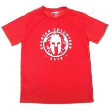 Reebok Spartan Race Spartan Volunteer 2018 Adult M T Shirt Tee Short Sleeve Red