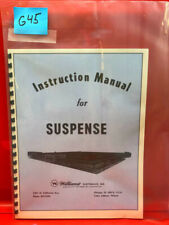 Suspense Pinball Operations/Service/Repair /Troubleshooting Manual Williams G45