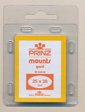 Prinz Scott Stamp Mounts Size 25/28 CLEAR Background Pack of 40