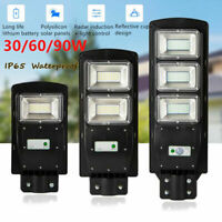 30/60/90W LED Solar Street Light Radar Induction PIR Motion Sensor Wall Lamp