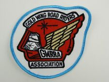 """Gold Wing Road Riders Association Patch GWRRA Turquoise Teal 4"""" Round Embroider"""