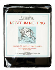 """Mosquito no-see-um military netting/net 60"""" wide x 5 yards long, black color"""