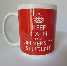 Keep Calm I'm a University Student Gift Mug Present Cup In Carry On Style Retro