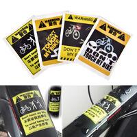 1X Fahrrad Aufkleber Radfahren Reflektierende Sicherheit 4 Art Fixed Frame Lt ei