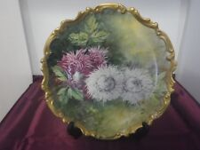 Vintage Biarritz Limoges Sw Co. Wall Hanging Charger Plate c.1900s France Signed
