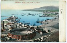 CPA - Carte Postale signée par HENRI BAELS - Espagne - Málaga - Plaza de Toros y