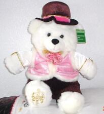 "2010 WalMART CHRISTMAS Snowflake TEDDY BEAR White Boy 20"" Hot Pink Cothes NWT"