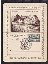 carte lettre  1er jour   journée du timbre   Grenoble    1943