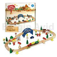 Brand New 60 Piece Wooden Train Set Chad Valley Beginner Railway
