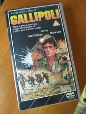 Gallipoli CIC stripey UK PAL VHS PRE-CERT VIDEO 1986 Mel Gibson b3