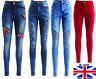 Womens High Waist Stretchy Denim Jeans Ladies Skinny Jeggings Trousers Pants Lot