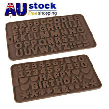 Alphabet Letters/Numers Chocolate Mold Tray Silicone Cake Icing Fondant Mould AU