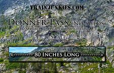 """TrainJunkies N Scale Donner Pass (No Sheds) Backdrop 12x80"""" C-10 Brand New"""