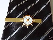Gold Plated Ships Wheel Tie Pin Sailing Club Yatching Narrowboat