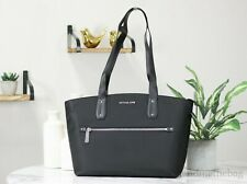 Michael Kors Polly Nylon Black Medium Top Zip Shoulder Tote Handbag Purse