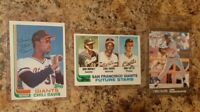 (3) Chili Davis 1982 Topps Traded Rookie Card Lot 1991 Ultra Giants RC Brenly