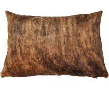 Cowhide almohada 40 x 60 cm marrón funda de almohada ambos lados Cowhide