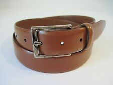 BROOKS BROTHERS Brown Genuine Leather Belt Size 34 Made In Italy