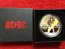 ACDC $2 SILVER PROOF HIGH VOLTAGE COIN ANGUS/MALCOLM YOUNG BON SCOTT PHIL RUDD
