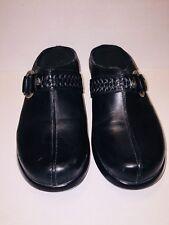 "Ariat Women's Black Leather Clogs Harness Ring Sz.7.5 M 1.5""Heel"