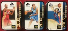 2003-04 SP SIGNATURE EDITION EMPTY ROOKIE TIN LOT LEBRON JAMES, ANTHONY, MILICIC