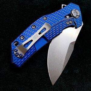 Zero Tolerance ZT0308 Flipper 20cv steel FolderZT 0308 Blue n Silver Ano NEW