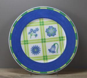 Winterling Dessina grün/blau Blumen Kuchenteller Frühstücksteller Ø ca. 21,3 cm