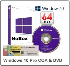Brand New Microsoft Windows 10 Pro Professional Genuine COA LICENSE + 64Bit DVD