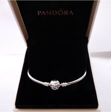 Genuine Pandora Moments Cz Bow Bangle       Sterling Silver and CZ
