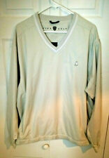 Golf Breathable Pull Over V-Neck Shirt Grey Size Large.