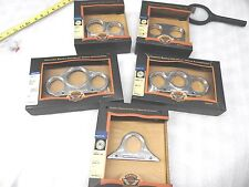 FIVE HARLEY-DAVIDSON GAUGE MOUNTS 1.5-2 INCH