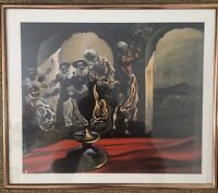 "DISAPPEARING BUST OF VOLTAIRE SALVADOR DALI FRAMED Lithograph 12""x14"""