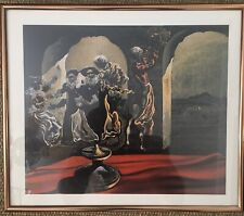 """DISAPPEARING BUST OF VOLTAIRE SALVADOR DALI FRAMED Lithograph 12""""x14"""""""