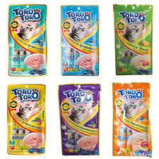 Toro Toro Lickable Paste Cat Treats Wet Snack for Kitten 2 Months+, Adult 15gx5