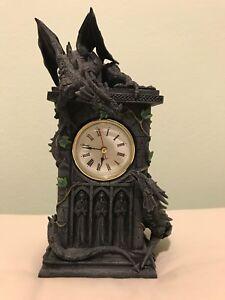 NEMESIS NOW Decorative Gothic Dragon figurine real Clock